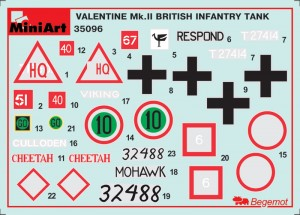 Content box 35096 BRITISH INFANTRY TANK Mk.III VALENTINE II  w/CREW