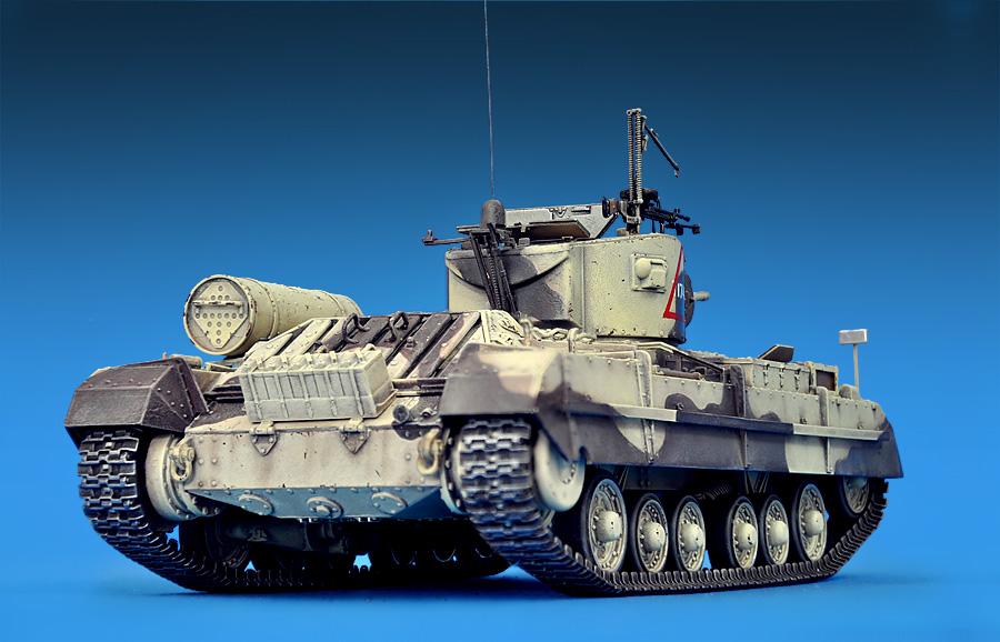 35096バレンタインMk.Ⅱ歩兵戦車フィギュア3体付