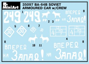 Content box 35097 BA-64B SOVIET ARMOURED CAR w/CREW
