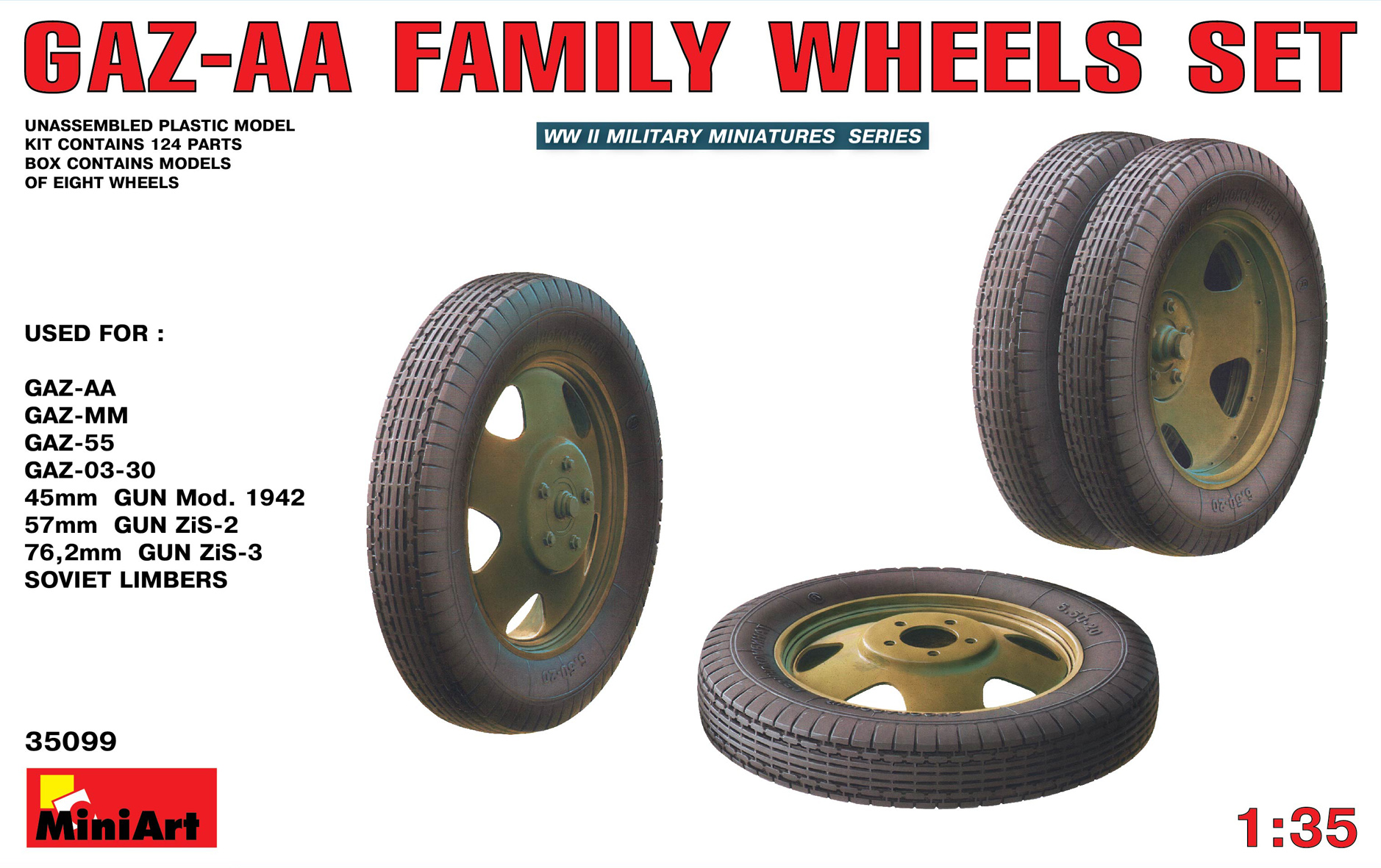 35099 GAZ-AA FAMILY WHEELS SET