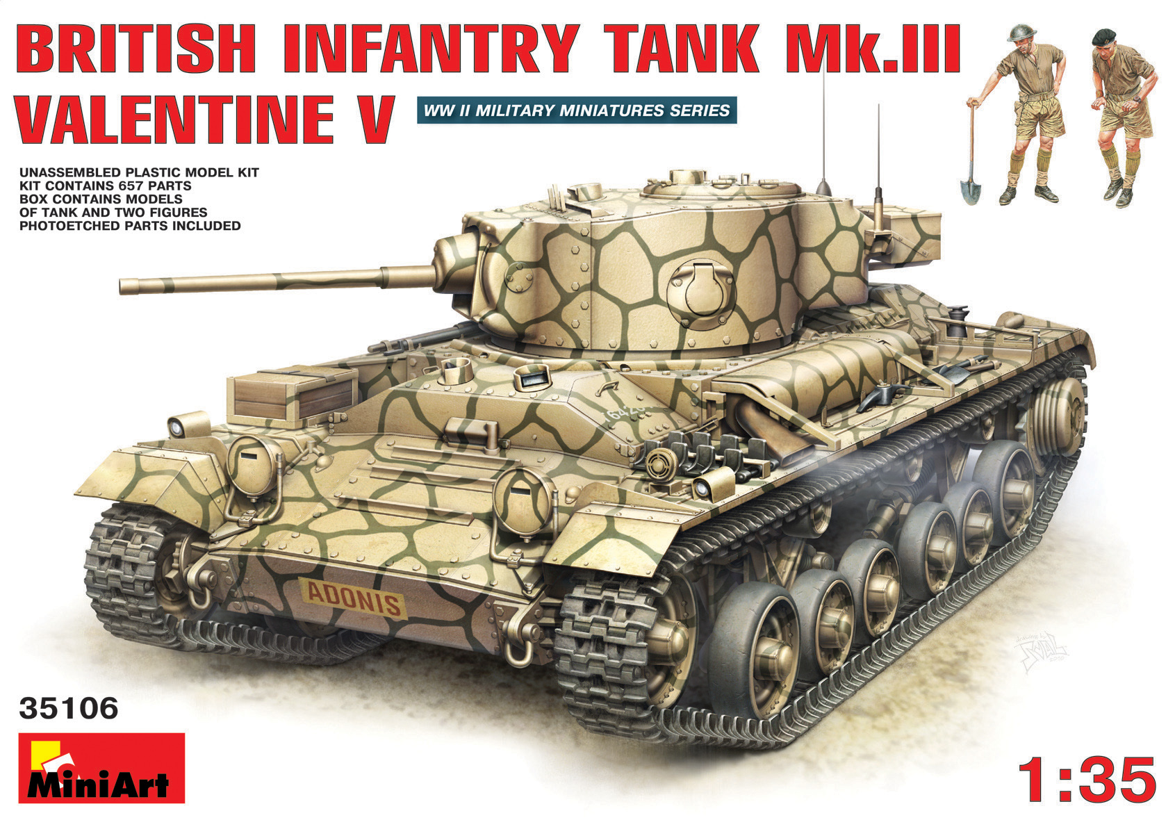 BRITISH INFANTRY TANK Mk.III VALENTINE V w/CREW