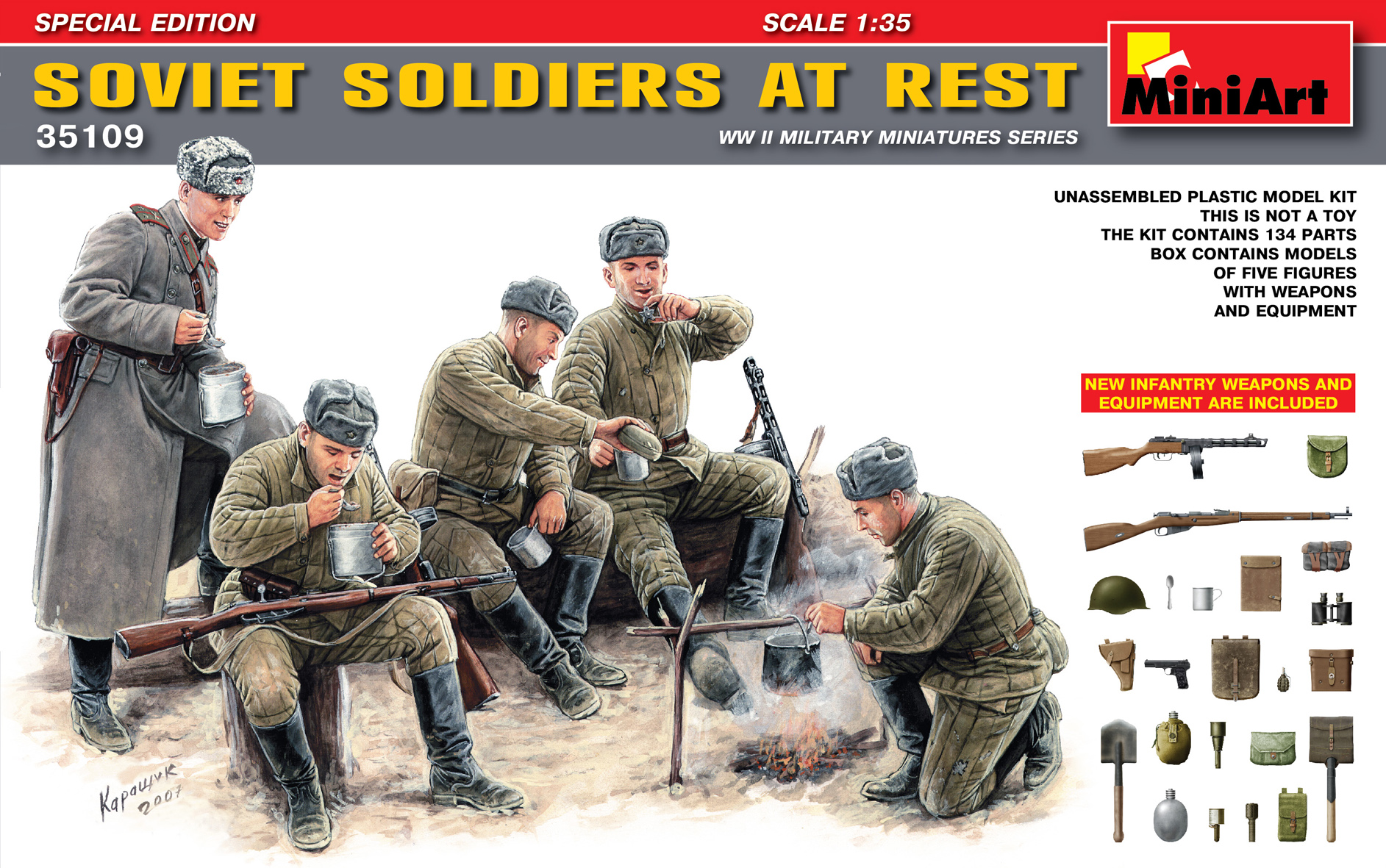 35109 SOVIET SOLDIERS AT REST. SPECIAL EDITION