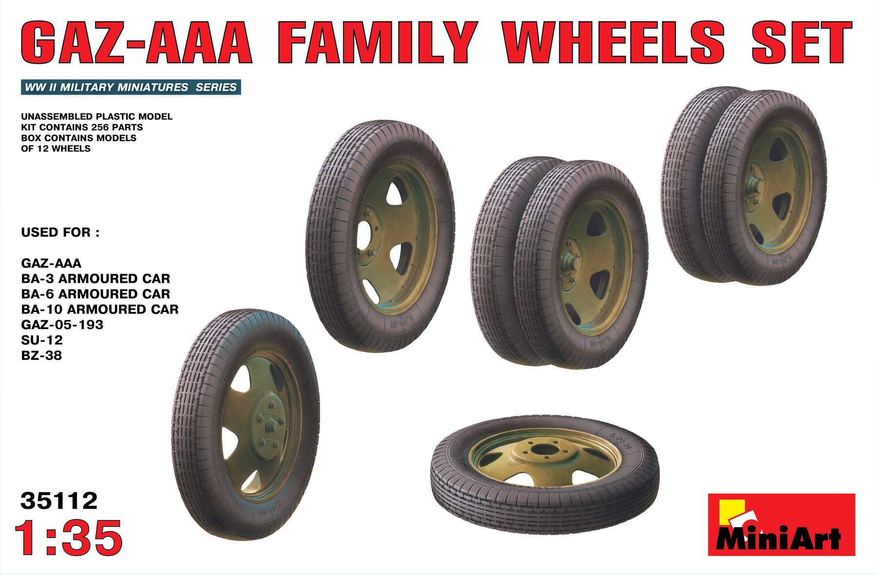 35112 GAZ-AAA FAMILY WHEELS SET