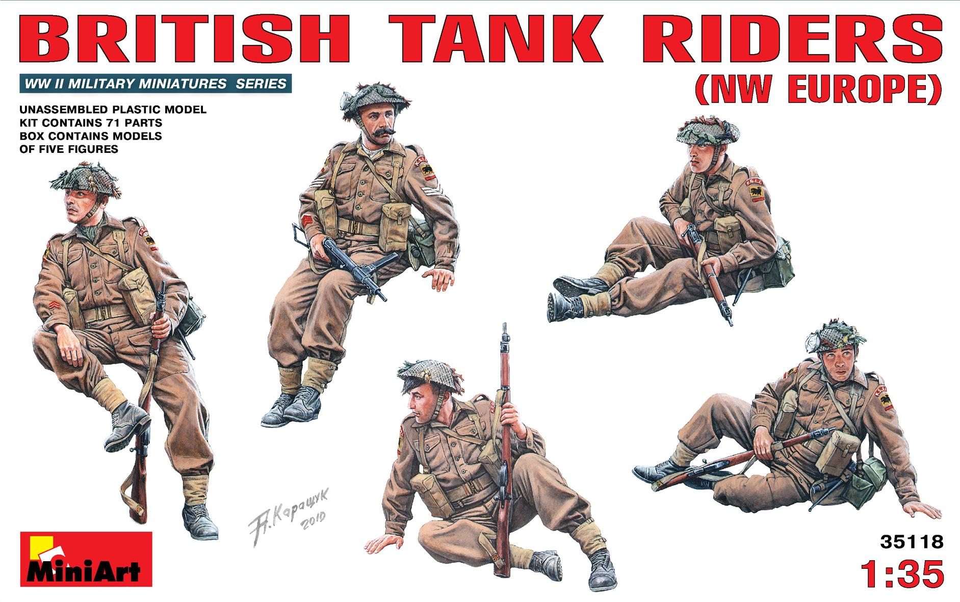 35118 BRITISH TANK RIDERS (NW EUROPE)