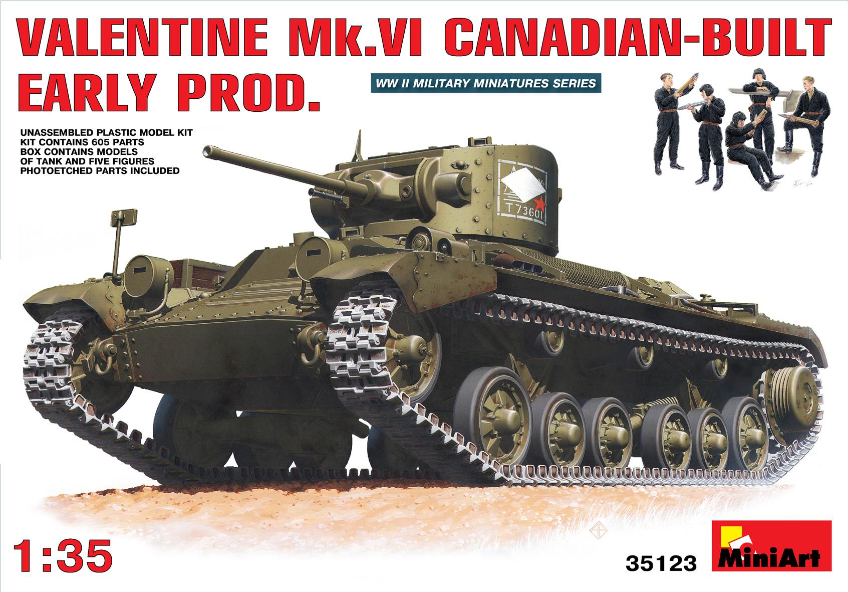 35123バレンタインMK.VI カナダ製初期型フィギュア5体付