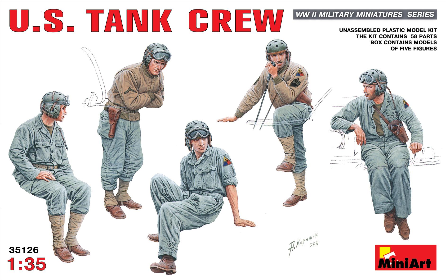 35126アメリカ戦車兵フィギュアセット5体入