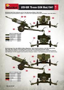 Content box 35129 USV-BR 76-mm GUN Mod.1941 w/ LIMBER AND CREW