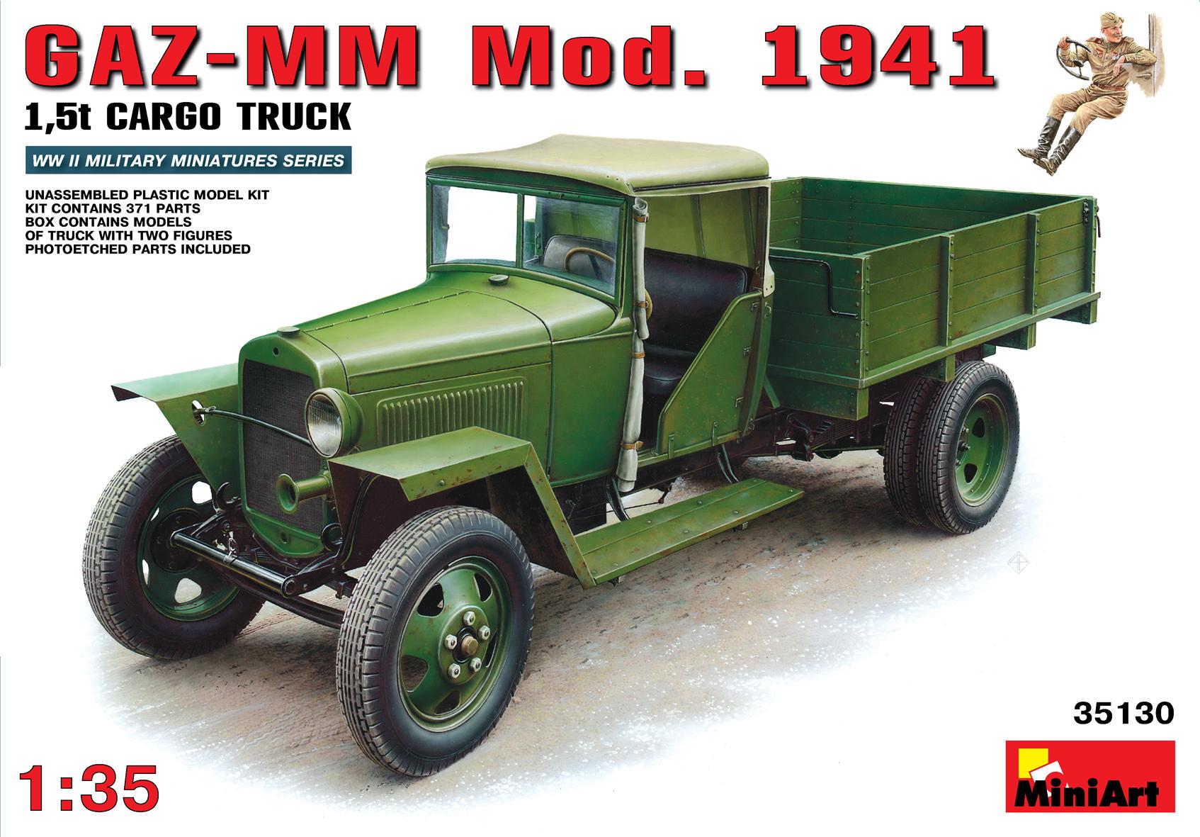 35130 GAZ-MM Mod.1941 1.5t CARGO TRUCK