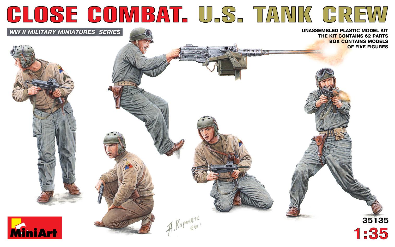 35135 近距离作战的美国坦克成员