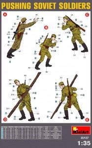 Content box 35137ソビエト歩兵作業シ-ンフィギュア5体入