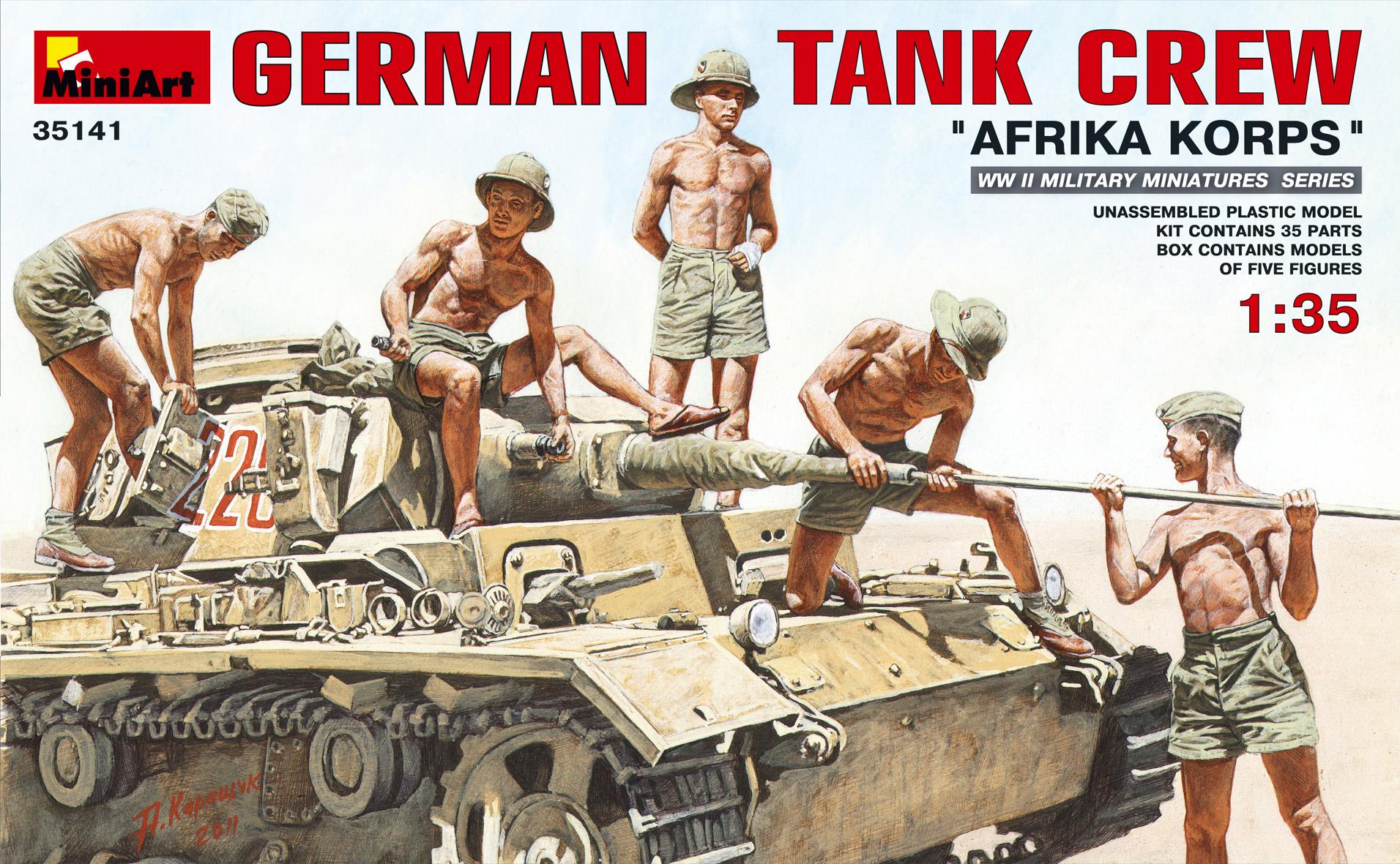 "35141 GERMAN TANK CREW ""AFRIKA KORPS"""