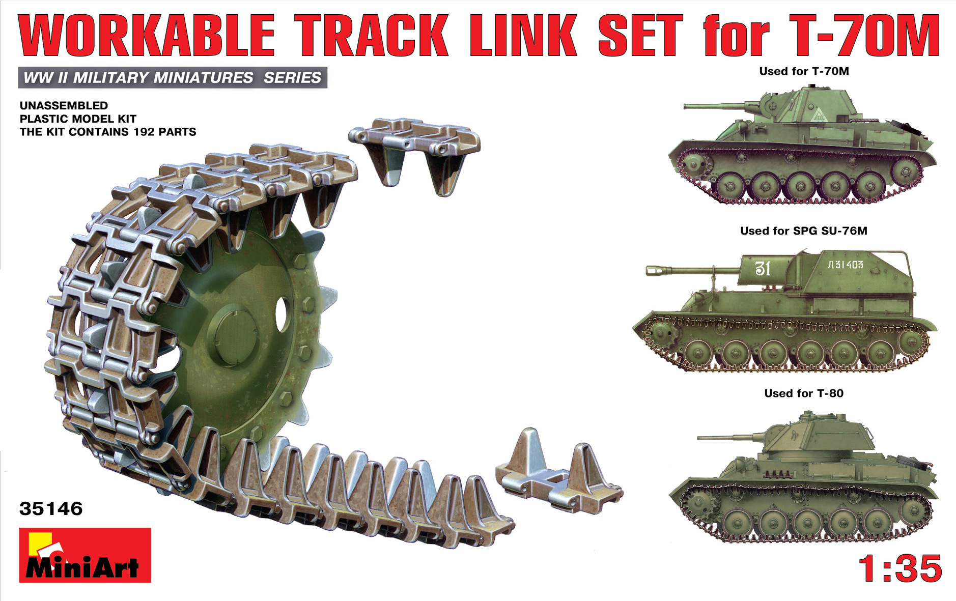 35146 WORKABLE TRACK LINK SET for T-70