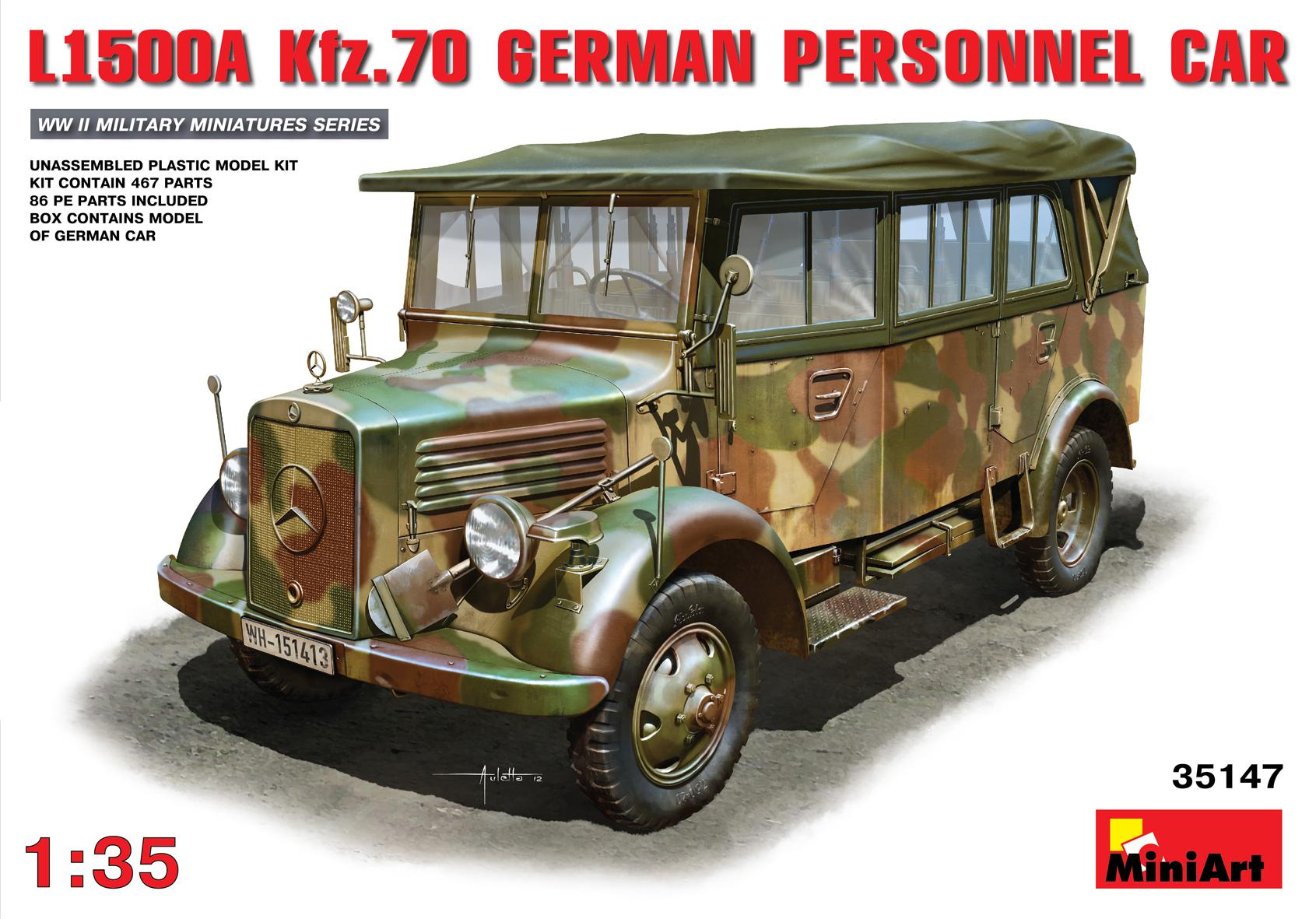 35147ドイツ軍 L1500A Kfz.70兵員輸送車
