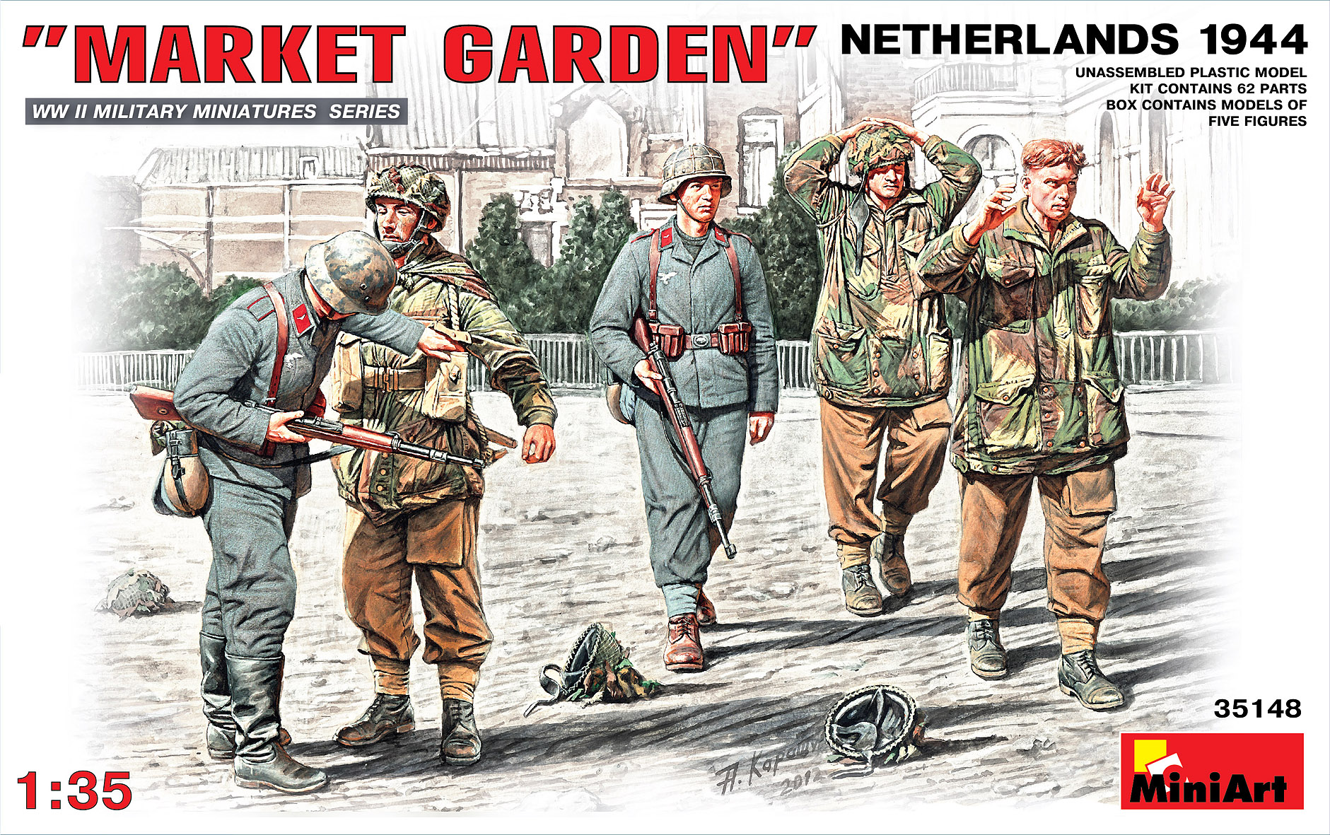 35148マ-ケットガ-デン作戦(オランダ1944)フィギュア5体入