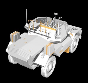 3D renders 35077 DINGO Mk.III BRITISH SCOUT CAR w/CREW