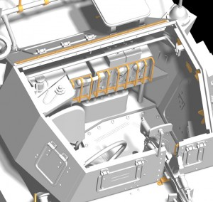 3D renders 35077 英国侦察车野狗 MK.3带士兵