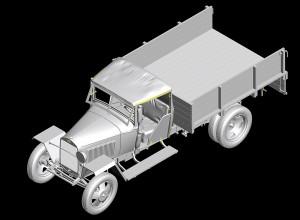 3D renders 35130 GAZ-MM Mod.1941 1.5t CARGO TRUCK
