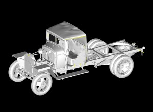 3D renders 35130 GAZ-MM Mod.1941 1.5t LASTWAGEN