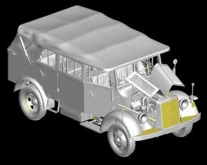 3D renders 35147ドイツ軍 L1500A Kfz.70兵員輸送車