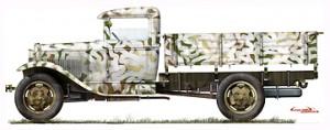 Side views 35124 GAZ-AA  Сargo Truck 卡车