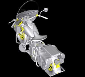 3D renders 35080 U.S. WW II Motorcycle WLA