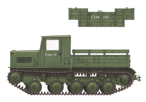 Side views 35052 Ya-12 SOVIET ARTILLERY TRACTOR