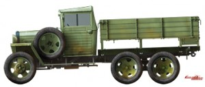 Side views 35133 GAZ-AAA Mod. 1943. CARGO TRUCK