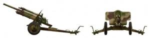 Side views 35129 USV-BR 76-mm GUN Mod.1941 w/ LIMBER AND CREW