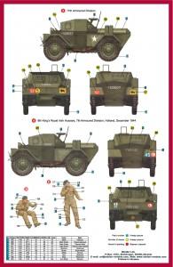 Content box 35077 英国侦察车野狗 MK.3带士兵