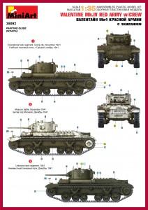 Content box 35092 VALENTINE Mk.IV RED ARMY w/CREW