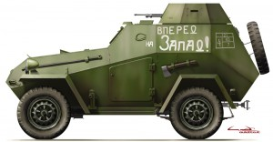 Side views 35097 BA-64B SOVIET ARMOURED CAR w/CREW