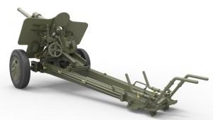 3D renders 35104 二战德国7.62 cm F.K. 39  野战炮