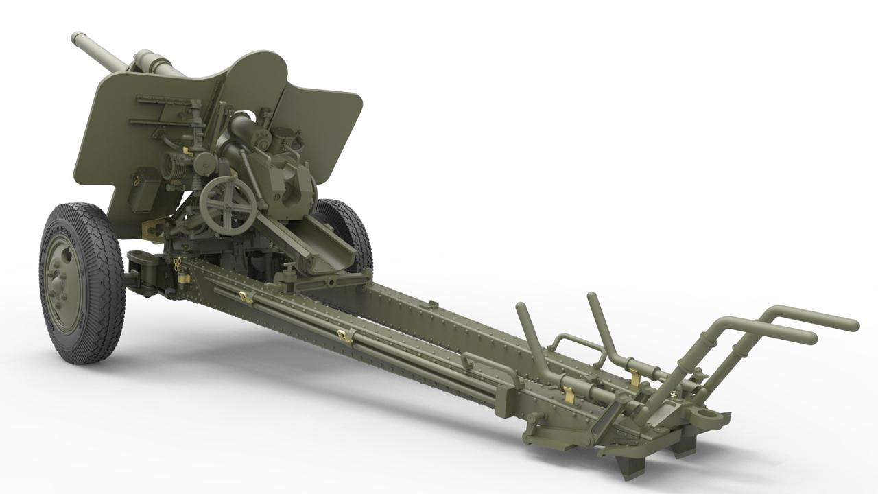 35129 USV-BR 76-mm GUN Mod.1941 w/ LIMBER AND CREW