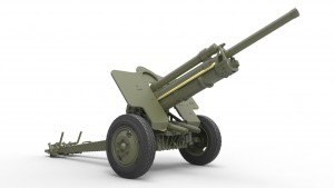 3D renders 35129 USV-BR 76-mm GUN Mod.1941 w/ LIMBER AND CREW