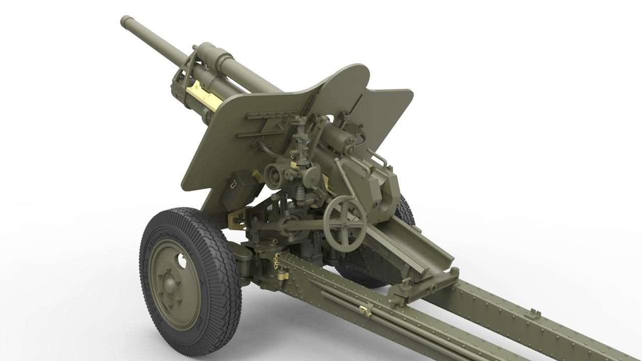 35129 USV-BR 76-mm GUN Mod.1941 mit LIMBER UND CREW