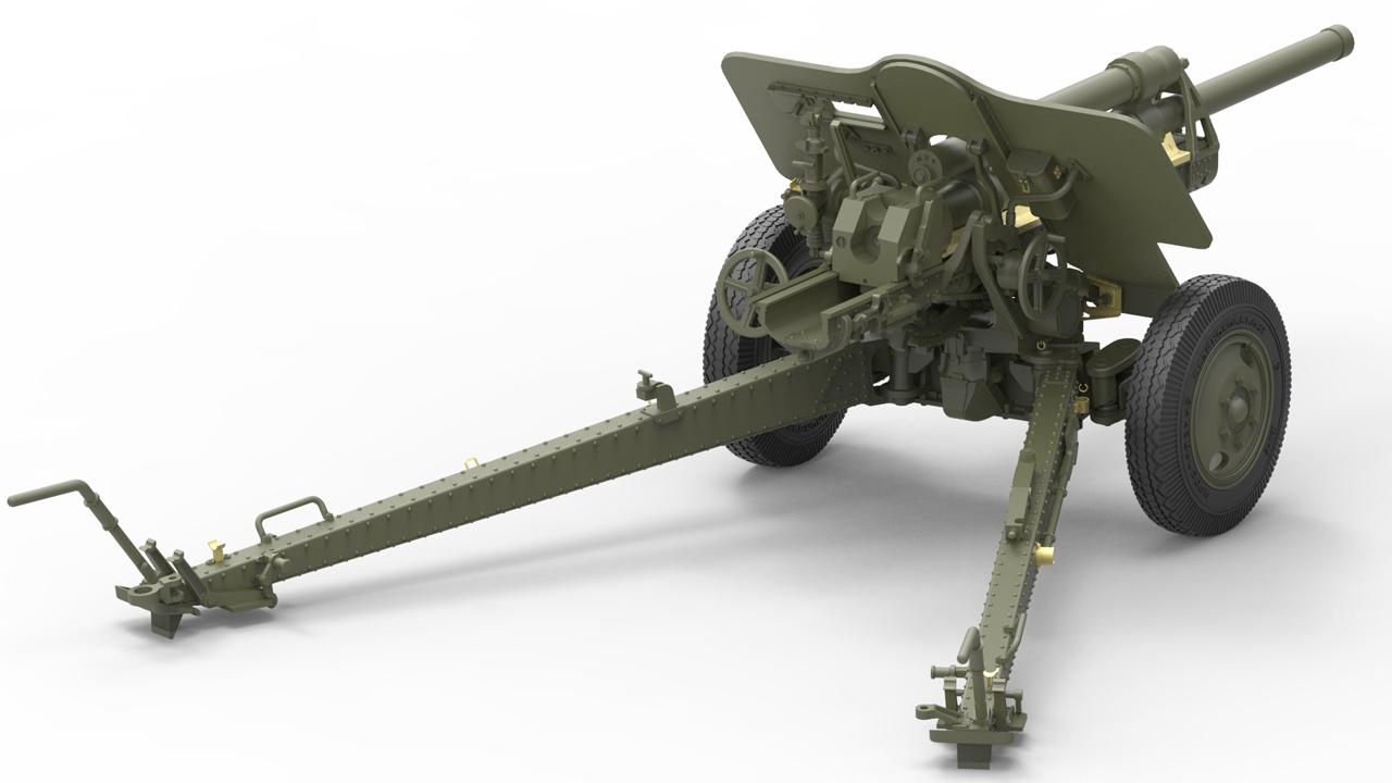 35129 СОВЕТСКАЯ ПУШКА УСВ-БР 76-мм Обр. 1941г. с артиллерийским передком и расчетом