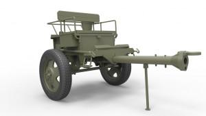 3D renders 35129 USV-BR 76-mm GUN Mod.1941 w/ LIMBER AND CREW
