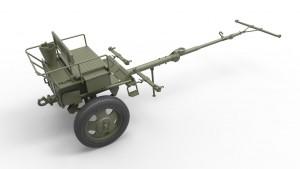 3D renders 35129 СОВЕТСКАЯ ПУШКА УСВ-БР 76-мм Обр. 1941г. с артиллерийским передком и расчетом