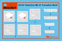 Content box 35123 VALENTINE Mk. VI CANADIAN – BUILT EARLY PROD.