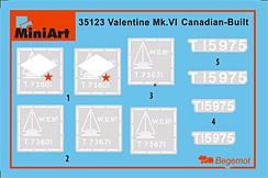 Content box 35123バレンタインMK.VI カナダ製初期型フィギュア5体付