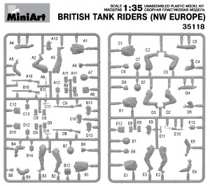 Content box 35118 BRITISH TANK RIDERS (NW EUROPE)