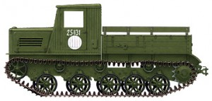 Side views 35140 Ya-12 SOVIET ARTILLERY TRACTOR. LATE PRODUCTION
