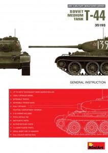 Content box 35193 T-44ソビエト中戦車
