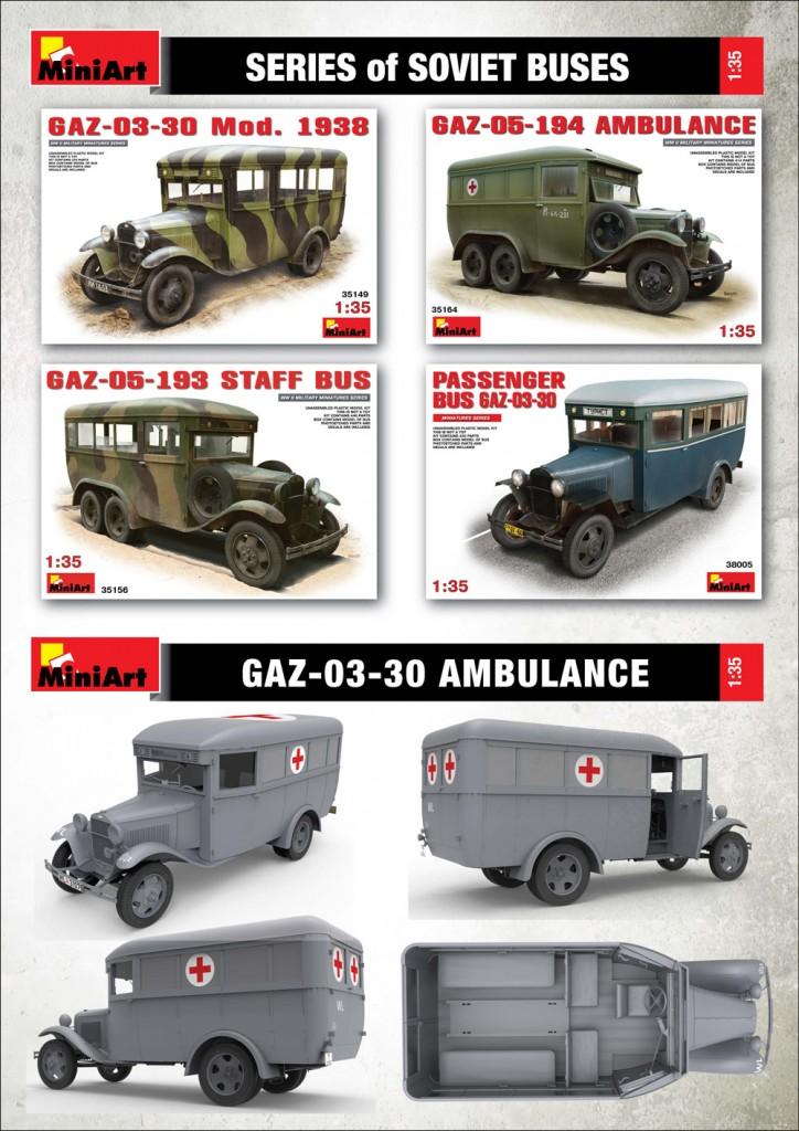 Miniart 35160 1//35 GAZ-03-30 Ambulance