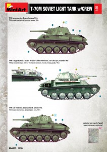 Content box 35194T-70M軽戦車 ソビエト戦車兵5体付(特別版)