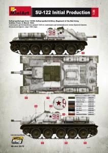 Content box 35175 SU-122 anfängliche Produktion, Bausatz mit Innenausstattung