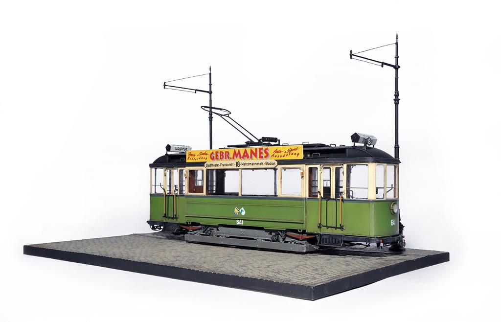 38003 GERMAN TRAMCAR 641 (Straßenbahn Triebwagen 641)