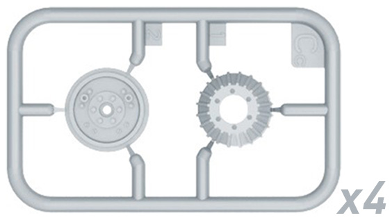 MINIART MODELS 1:35 Zis-6 Family Wheels Set  MIA35201