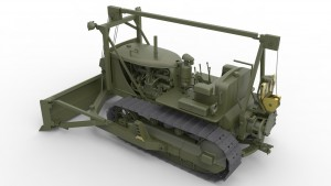3D renders 35184 U.S. ARMY TRACTOR w/ANGLED DOZER BLADE