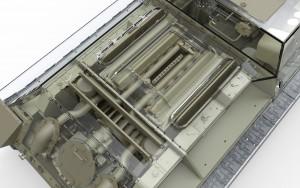 3D renders 35175 SU-122 anfängliche Produktion, Bausatz mit Innenausstattung